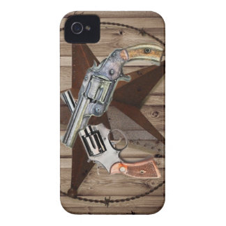 rustic western country texas star cowboy pistols iPhone 4 case