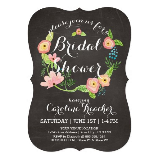 Rustic Whimsical Granny Chic Hipster Chalkboard Custom Announcement