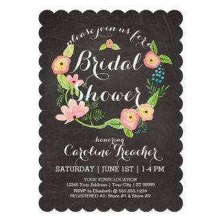 Rustic Whimsical Granny Chic Hipster Chalkboard Custom Invitations