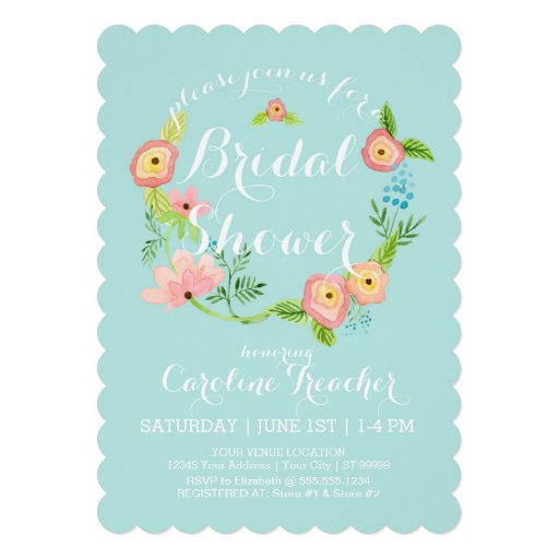 Rustic Whimsical Granny Chic Hipster Floral Bridal Invites