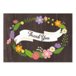 Rustic Whimsical Woodland Wreath Favour Tag Pack Of Chubby Business Cards