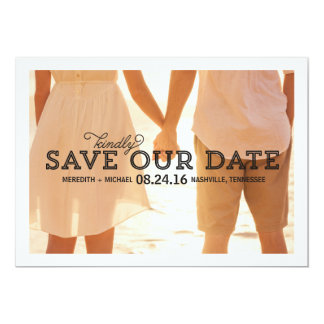 Rustic Whimsy | Photo Save the Date 13 Cm X 18 Cm Invitation Card