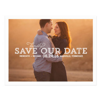 Rustic Whimsy | Photo Save the Date Postcard