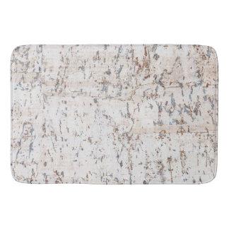 rustic white cork bath mats