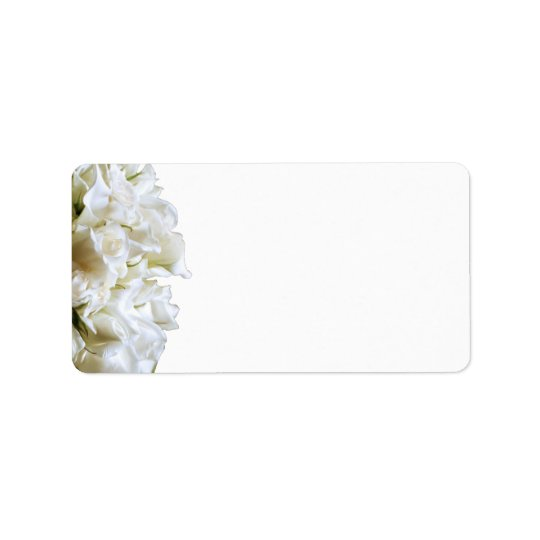 Rustic White Flowers Address Labels