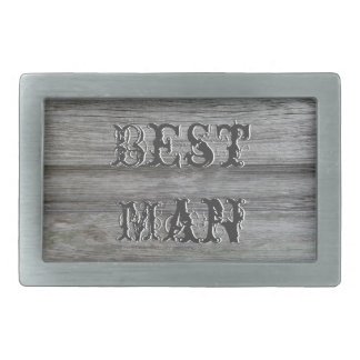 Rustic White Flowers Best Man Belt Buckle
