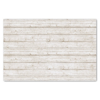 Rustic White Painted Wood Boards Woodland Wedding Tissue Paper