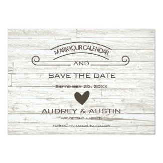 RUSTIC WHITE WOOD STYLE | SAVE THE DATE