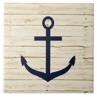 Rustic White Wood with Anchor Tile