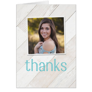 Rustic Whitewash Thank You Notecard