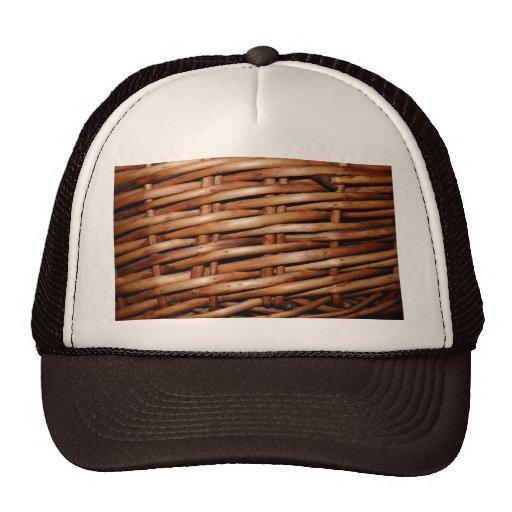 Rustic Wicker Basket Weave Trucker Hat