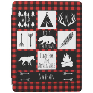 Rustic Wilderness & Animals Buffalo Check Plaid iPad Cover