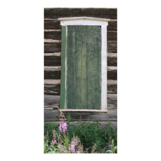 Rustic Window Photo Card