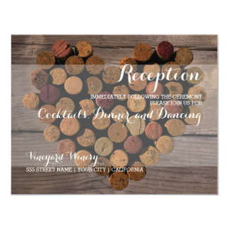 Rustic Wine Cork Reception Card