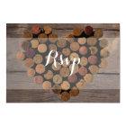 Rustic Wine Cork RSVP Card