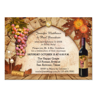 Rustic Wine Elope or Post Wedding Party Invitation