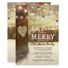 Rustic Winter Christmas Holiday Themed Party
