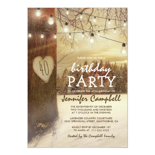 Christmas Themed 1st Birthday Party.Rustic Winter Christmas Themed Birthday Party Invitation