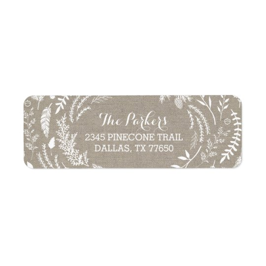 rustic winter holiday address labels zazzle co uk