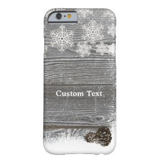 Rustic Winter Snowflakes & Pinecones Phone Case
