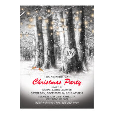 Rustic Winter Tree & String Lights Christmas Party