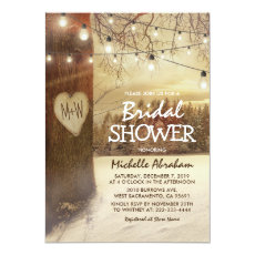 Rustic Winter Tree Twinkle Lights Bridal Shower