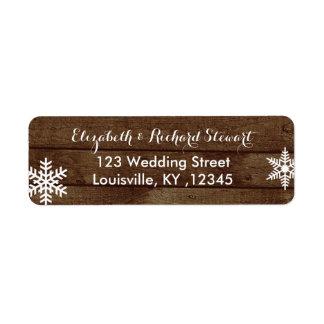 Rustic Winter Wedding Barn Wood Snowflakes