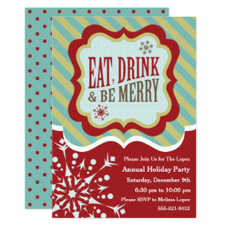 Rustic Winter Wonderland Holiday Party Invitation
