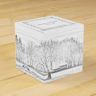 Rustic Winter Wonderland Wedding Favor Box