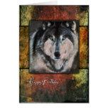 Rustic Wolf Birthday Card