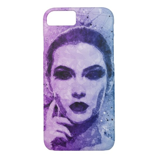Rustic Women Paint Splatter Design iPhone 7 Case