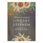 Rustic Wood and Sunflowers Wedding Welcome Sign