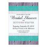 Rustic Wood and Teal Lace Personalised Invites