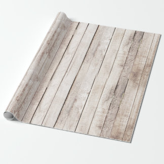 Rustic Wood Barn Boards Farmhouse Woodland Wedding Wrapping Paper