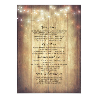 Rustic Wood Barn String Lights Information Card