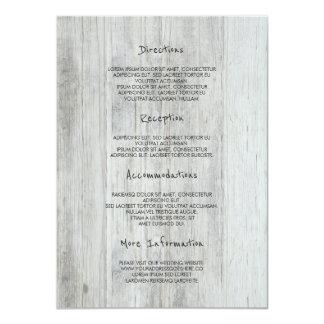 Rustic Wood Barn Wedding Details -Information Card