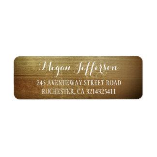Rustic Wood Barn Wedding Return Address Label