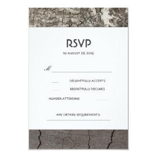 Rustic Wood Birch Barn Wedding RSVP Cards