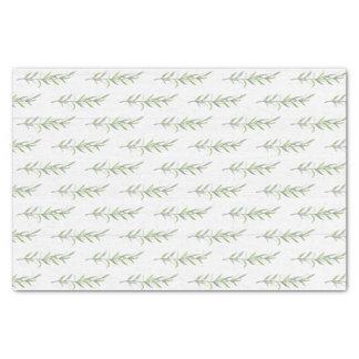 Rustic Wood & Botanical Green Leaves Wedding Tissue Paper