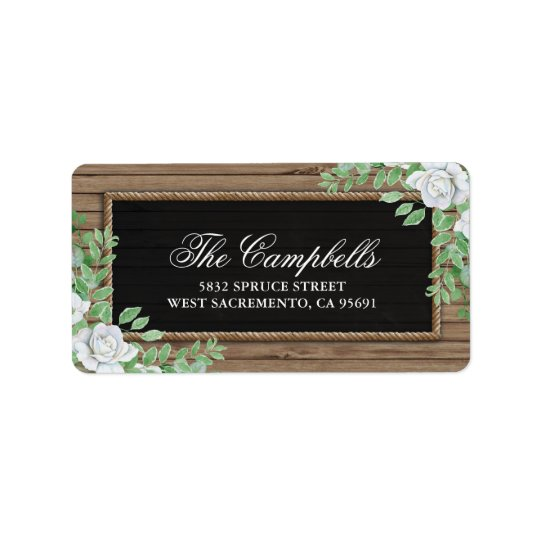 Rustic Wood Botanical Organic Greenery Wedding Label