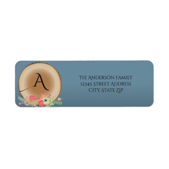 Rustic Wood Bouquet - Address Label