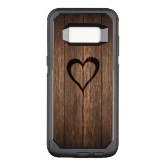 Rustic Wood Burned Heart OtterBox Commuter Samsung Galaxy S8 Case