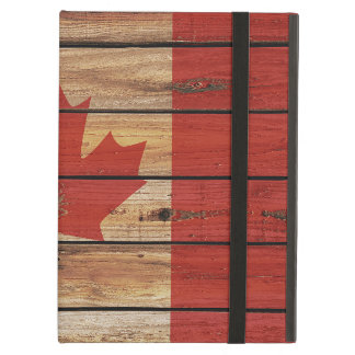 Rustic Wood Canada Flag Case For iPad Air