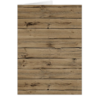 Rustic Wood Greeting Card