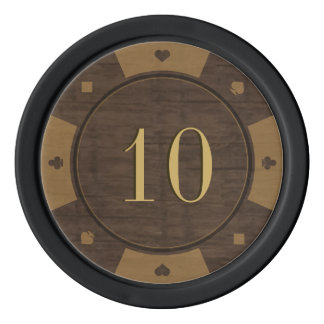 Rustic Wood Casino Style Poker Chips