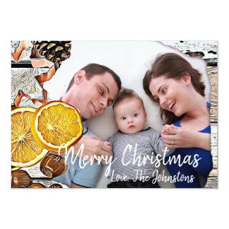 Rustic Wood, Christmas Display Photo Card