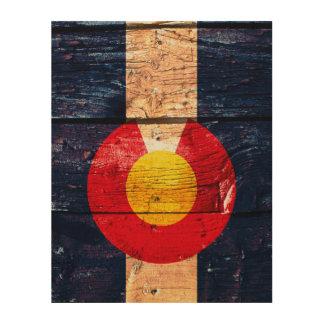 Rustic wood Colorado flag wooden sign art
