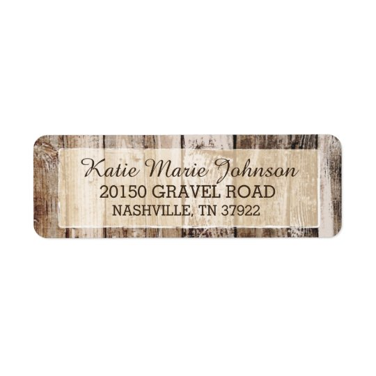 Rustic Wood Country Western Wedding Label