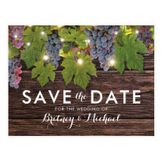 Rustic Wood Country Winery Wedding Save the Date