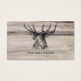 Rustic Wood | Deer Wedding Drink Card